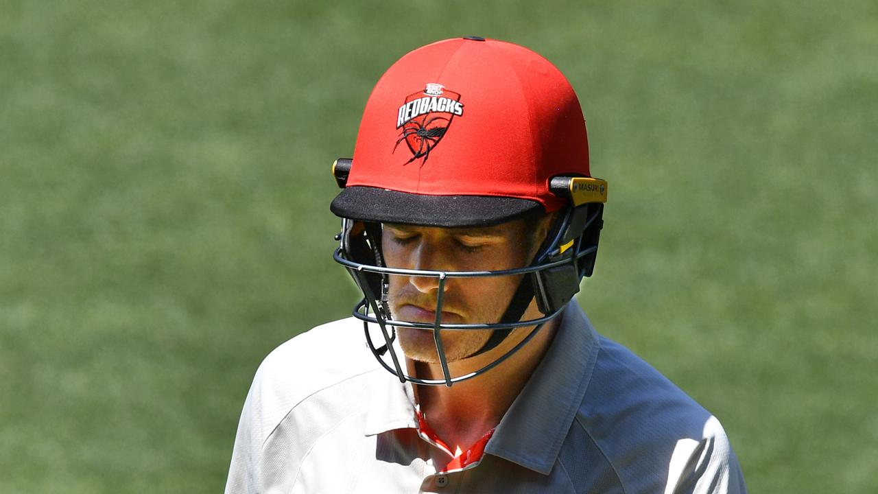 South Australia has crumbled on its own turf against Tasmania with a remarkable collapse at the death on day four.