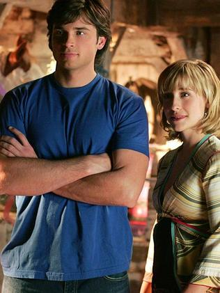 Tom Welling as Clark Kent and Allison Mack as Chloe Sullivan in Smallville. Picture: Supplied
