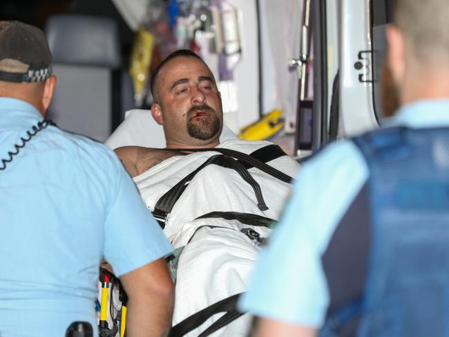 The man eventually handed himself over to police at 5.20am. Picture: Dean Asher