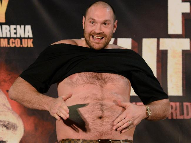 Tyson Fury in the lead-up to a rematch with Wladimir Klitschko that was later cancelled.