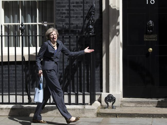 Theresa May's characteristic form will be missed outside of Number 10 Downing Street. Picture: Carl Court/Getty Images