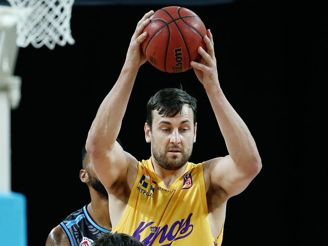 Andrew Bogut in the pivot for the Sydney Kings. Picture: Getty Images