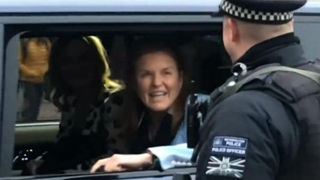 She was pictured smiling as she visited Buckingham Palace last week. Picture: BBC