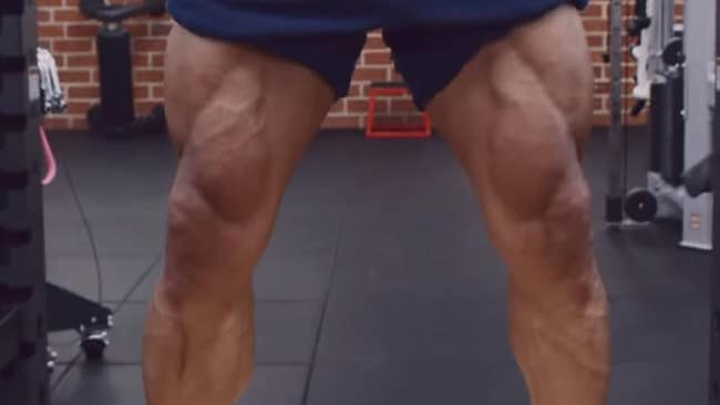 That's what you call a pair of solid quads. Picture: YouTube/ The Rock