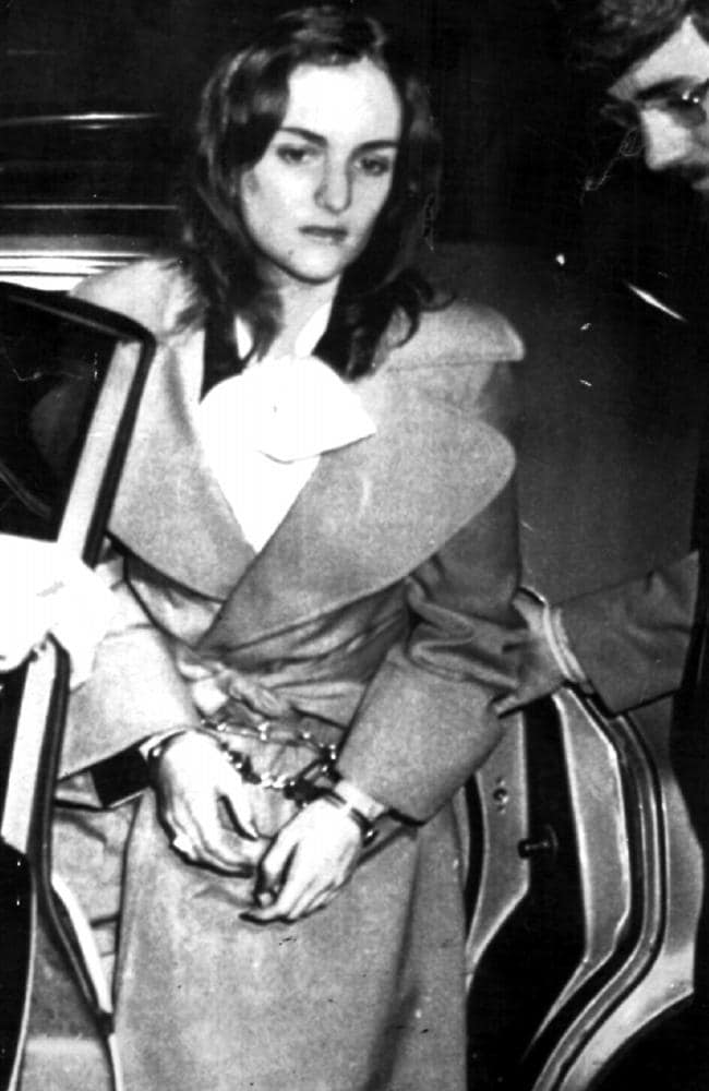Patty Hearst after her arrest. Picture: UPI