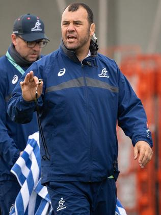 Michael Cheika is laying down the law. Picture: Stuart Walmsley