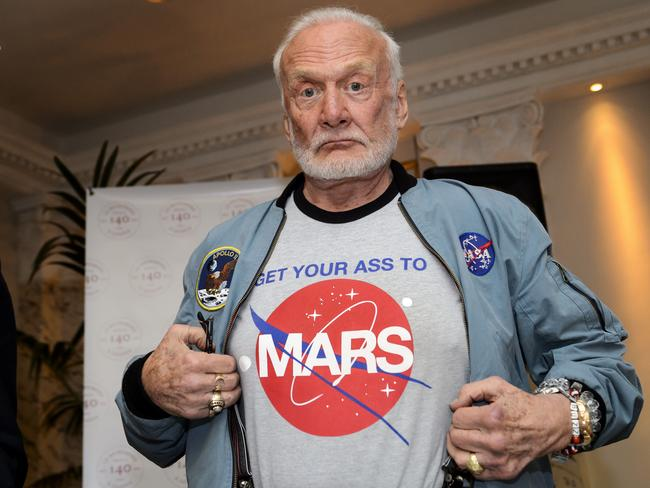 Former NASA astronaut and Moon walker Buzz Aldrin is a major advocate of sending a manned mission to Mars. Picture: AFP