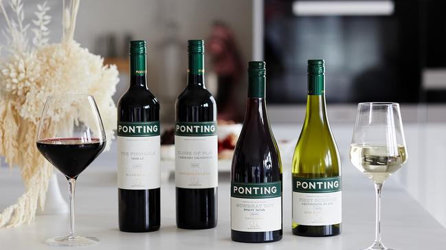 The four wines available through the new range from Ricky Ponting.