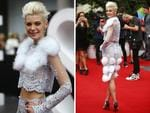 Kate Peck arrives on the red carpet at the ARIA Awards 2014 in Sydney, Australia. Picture: Bradley Hunter