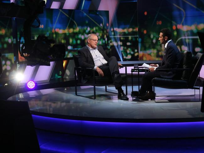 Scott Morrison's body language didn't impress viewers. Picture: The Project