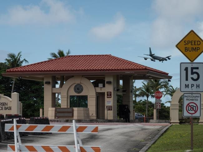 The Andersen Air Force Base in Guam. Picture: AFP
