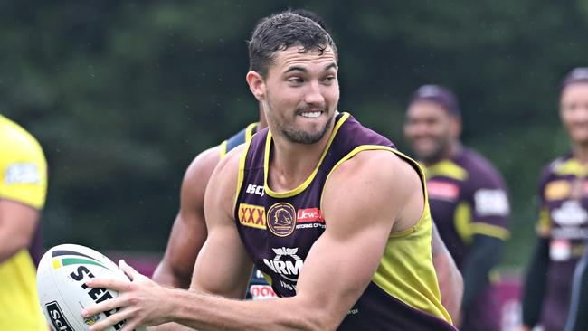 Corey Oates at Brisbane Broncos training. Picture: Annette Dew