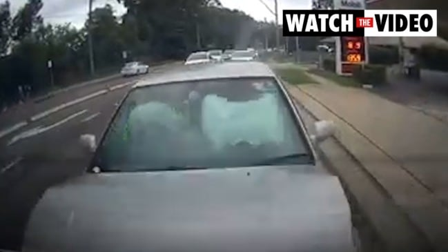 Driver violently rear-ended with two kids in the car