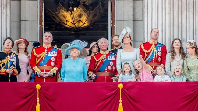 Meghan Markle takes her place among the other members of the Royal family. Picture: MEGA