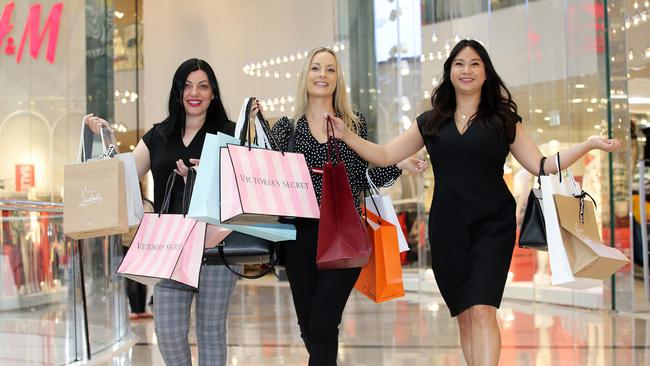 All major shopping centres will open for you to shop til you drop. Picture: Andrew Tauber