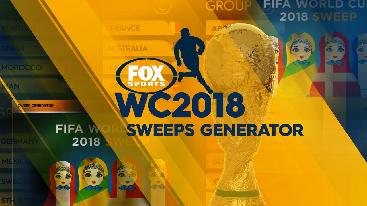 Fox Sports' World Cup sweep generator.