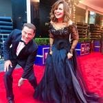 """Karl Stefanovic and Lisa Wilkinson ... """"Karl, always so helpful on the red carpet!"""" Picture: Instagarm"""