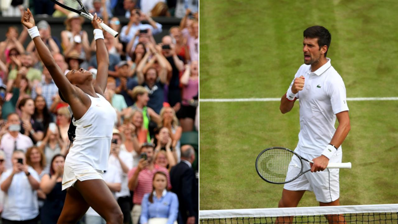 Image result for djokovic gauff wimbledon 2019