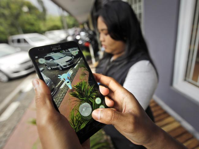 Pokemon Go is a hit in countries like Indonesia. Picture: AP