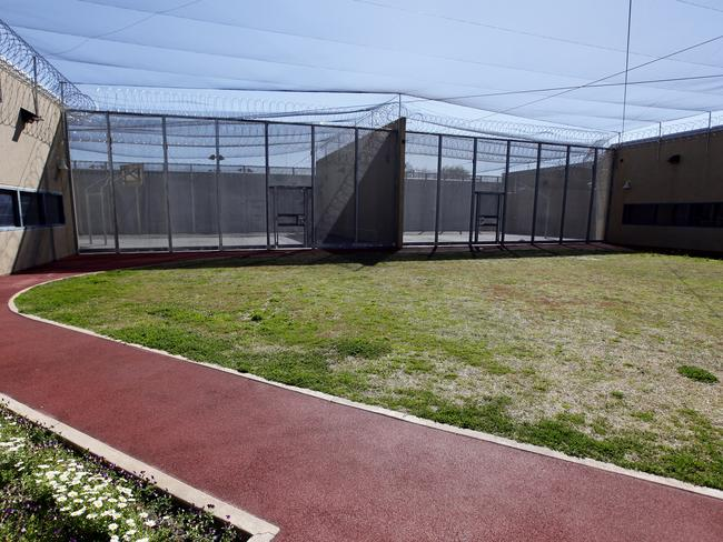 The yard and running track at Supermax where, Ivan Milat writes, he can choose to spend his time during any give day at the high security prison. Picture: News Corp