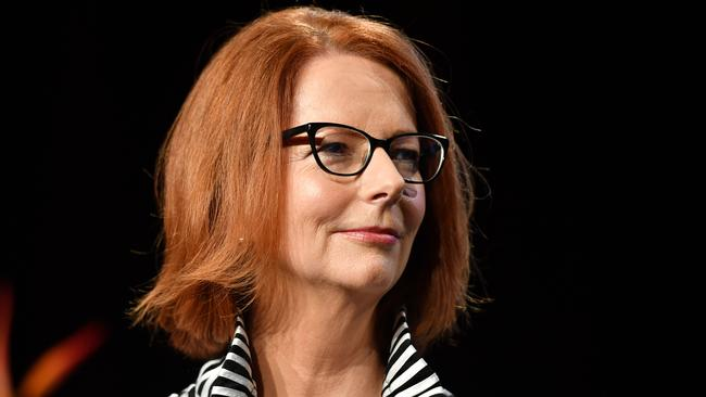 Former PM Julia Gillard has spoken out repeatedly about the abuse copped by women in politics. Picture: Brendan Esposito/AAP